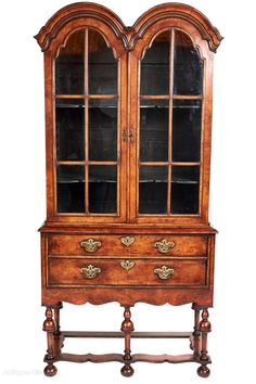 Antique Queen Anne Revival Double Dome Display Cabinet - Antiques Atlas Antique Display Cabinets, Queen Anne, Antiques, Home Decor, Antiquities, Antique, Decoration Home, Room Decor, Interior Decorating