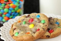 XXL M&M Chocolate Chip Cookies by Picky Palate. Thee best ever cookie ...