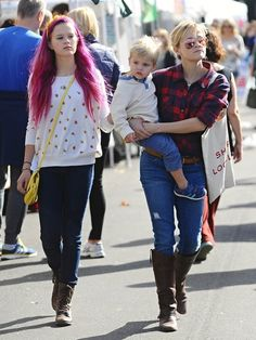 Reese Witherspoon Photos Photos - 'Wild' actress Reese Witherspoon enjoys a trip to the farmers market with her husband Jim Toth and her children Ava & Tennessee on November 23, 2014 in Los Angeles, California. Reese's daughter Ava showed off her long pink hair while the family shopped for locally grown fruits and vegetables. - Reese Witherspoon Spends the Day with Family