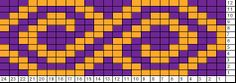 Tricksy Knitter Charts: Adapted spiral - 24 st repeat
