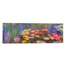 """iCanvas """"Water Lilies"""" by Claude Monet Painting Print on…"""