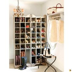 Furniture. White Wooden Walk In Closet With Many Racksfor Shoe Organizer And Bronze Metal Chandelier Plus Side Table For Bag Keeper As Well As Storage Closet Organizers Plus Wood Storage Cabinets. Captivating Wooden Shoe Organizer For Saving Your Shoes Collection