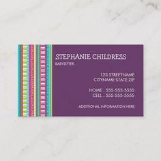 175 Best Babysitting Business Cards
