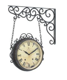 Antique Style French Provincial Double Sided Wall Clock Home Decor Vintage AZ