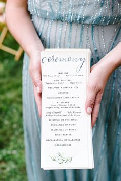 graceful · natural · modern this watercolor ceremony program combines custom, handwritten watercolor calligraphy with a delicate watercolor olive branch, and crisp contrasting serif font. this piece is an elegant way to present the meal at our wedding or event, adding handmade authenticity to your events table setting while staying quick and simple for your schedule and budget. — — — THE DETAILS — — — · double-sided program, sized 4.25x11 · purchase includes 2 US letter-size .pdf files…