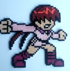 Shermie (King of Fighters) Perler beads by Nerd Melt