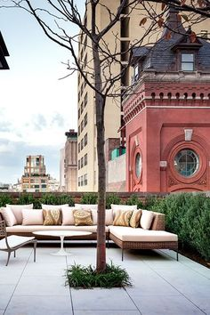 10 Jaw-Dropping NYC Apartments With Incredible Outdoor Spaces #refinery29  http://www.refinery29.com/nyc-apartments-outdoor-patio-balcony#slide-30  We'd be more than happy falling asleep to the lights of New York City.