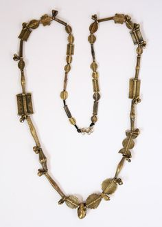 // Baoule Brass lost wax necklace.  Ivory coast.