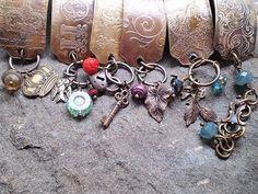 Beautiful etched copper bracelets