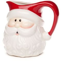 Home Accents Multi Christmas Day Santa Pitcher ($20) ❤ liked on Polyvore featuring home, kitchen & dining, serveware, multi, christmas serveware, holiday serveware, serving pitchers, beverage pitcher and drink pitcher