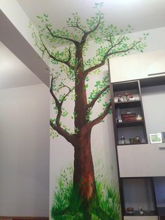 Indoor painted tree for a long-lasting relaxation mood at home. I used acrylic paint. Enjoy! :)