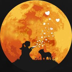 You, and Love, and a French Bulldog in the Moonlight, Bouledogue français au clair de lune / French bulldog & moonlight... Love my french by Ineta Ragutska