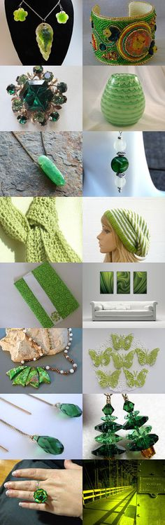 Glamorous Green by Kaitlyn on Etsy--Pinned with TreasuryPin.com #summerfinds