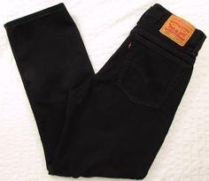 Men Levis Levi's 516 Black Jeans Relaxed Slim Leg Classic Rise sz 34 X 30 #Levis #RelaxedSlim