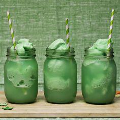 Lime Sherbet Floats
