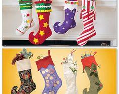 Christmas Stockings McCall's Pattern M7063 by KlinesCorner on Etsy