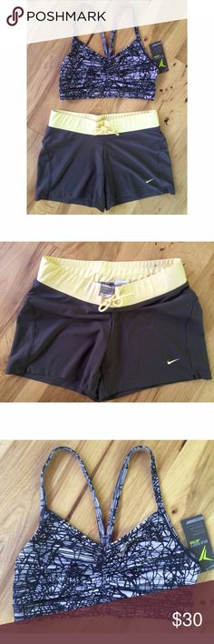 ✨SET✨ NWT Sport Bra & Nike Fit Workout Short For sale is a new with tag Old Navy sport bra in size small with an excellent pre-loved size small fit dry Nike short. Both size small. No flaws. Elastic and stretchy. ❌No trades or modeling. Open to offers. Thank you!‼️ Nike Tops Crop Tops