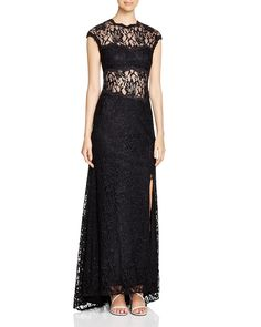 Avery G Illusion Inset Lace Gown - 100% Bloomingdale's Exclusive