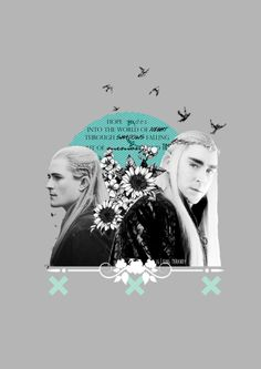 Monochrome Legolas and Thranduil