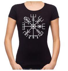 Vegvisir Viking Compass Symbol Women s Babydoll Shirt Alternative Clothing  Odin Mythology ce3a1a146