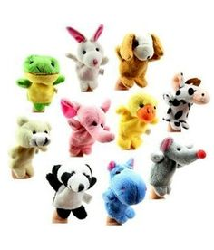 10 Differernt Ainimals/Lot Finger Puppets Good Tool of Telling Story Baby Toys in Baby, Toys for Baby, Developmental Baby Toys Toddler Gifts, Toddler Toys, Baby Toys, Pet Toys, Gifts For Kids, Animal Hand Puppets, Motifs Animal, Musical Toys, Developmental Toys