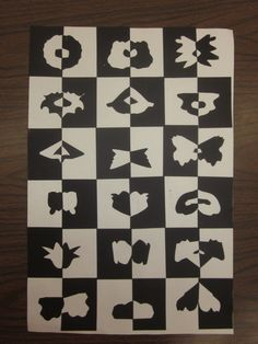 Positive/Negative Space Grids- 2nd Grade