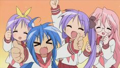 lucky star anime!!!!!!! Thanks to my friend Bri for showi ng it to me <3