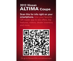 How QR Codes can make it easy for consumers to learn more about the cars they may purchase