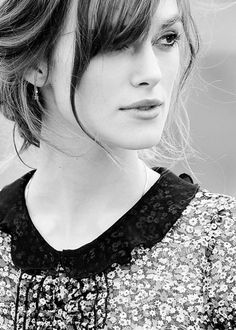 """keira knightley...I named my daughter Keira and loved the way this Celeb spelled it...and that's how my daughter got her name.. plus it means """"Enchanted"""""""
