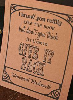 bookplate, bad design, good sentiment