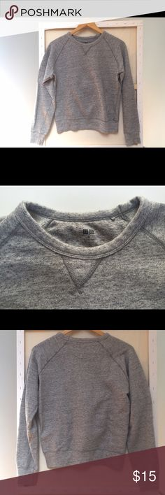 Classic UNIQLO Sweatshirt Retro Heather Grey This sweatshirt was purchased in the woman's side of the store but could be a unisex XS, in any case it's a classic style and great with jeans, shorts and skirts. Seldom worn, in excellent condition. Smoke free home. Offers accepted. Uniqlo Tops Sweatshirts & Hoodies