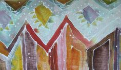 Huts in the Sun Wall Quilt by Ingrid Ellis Quilts, Collages, Creative, Mixed Media, Interview, Pictures, Painting, Sun, Wall