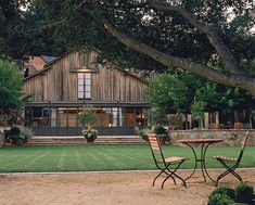 Lawn and barn of The Napa Valley Reserve