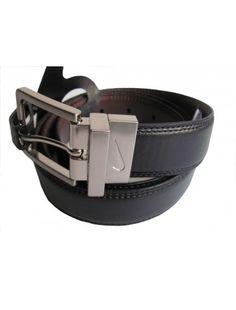 Nike Golf Mens Classic Reversible Belt, Black