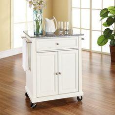 Crosley Solid Granite Top Portable Kitchen Cart/Island