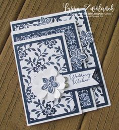 Fourfold four fold free tutorial Stampin Up cardmaking sketches