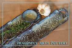 """Hors+D'oeuvre+Tray++Cracker+Dish++Olive+Tray++by+DragonflyArts,   3""""x15"""". $36"""