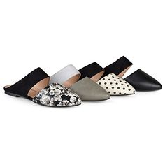 9dbd4affa3 SALE PRICE - $14.99 - Brinley Co Womens Faux Suede Faux Leather Slip-On  Mules