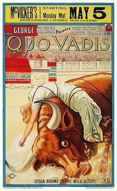 Theatrical poster for the 1913 silent film Quo Vadis?