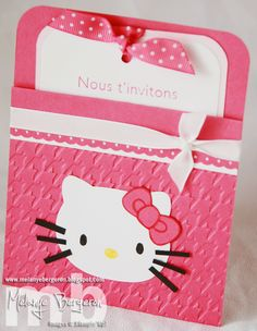 hello kitty scarupbook   Scrapbooking, Estampage et Cie: Invitation d'Anniversaire Hello Kitty