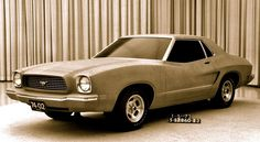1972 Mustang II full-size clay model