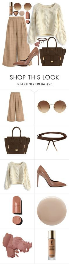 """""""Sweetheart"""" by carolsposito ❤ liked on Polyvore featuring Victoria Beckham, Henri Bendel, Humble Chic, Chicwish, Yves Saint Laurent, Chanel, Oribe and Too Faced Cosmetics"""