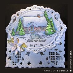 Cuddly Buddly Clear Stamps - Snowy Cottage CBS0009 < Craft Shop   Cuddly Buddly Crafts