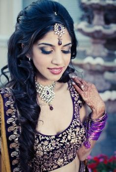 Inspiring 15 Indian Bridal Hairstyles - Hairstyles Indian Bridal Hairstyles: Hairstyle is one of the most important aspects that plays […] Celebrity Wedding Makeup, Indian Wedding Makeup, Wedding Hair And Makeup, Indian Bridal Hairstyles, Latest Hairstyles, Bride Hairstyles, Lehenga Hairstyles, Tikka Hairstyle, Hairstyle Ideas