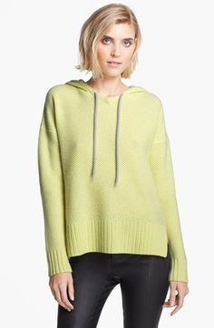 autumn cashmere Honeycomb Stitch Cashmere Hoodie available at #Nordstrom (love the gray - when it goes on sale :)