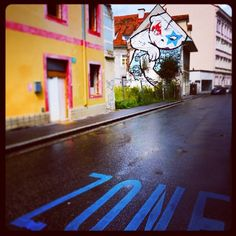 """Yoga John"" Streetart @ Lend by ""Permanent Unit"" The Unit, Yoga, Places, Fun, Travel, Graz, Voyage, Yoga Tips, Viajes"