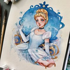 Cinderella, Cinderella~🦋 Our dad said we watched the movie on repeat when we were kids 😂 . Disney Princess Drawings, Disney Princess Art, Disney Sketches, Disney Fan Art, Disney Drawings, Cartoon Drawings, Cinderella Disney, Art Drawings Sketches, Cute Drawings
