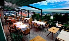 On the terrace of Beyoğlu's Tomtom Suites hotel in Istanbul, La Mouette is one of the city's finest restaurants