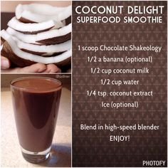 Posts about superfood smoothie written by kathrous Shakeology Flavors, Shakeology Shakes, Vegan Shakeology, Chocolate Shakeology, Protein Shakes, Superfood, 21 Day Fix Diet, Thing 1, Coconut Milk