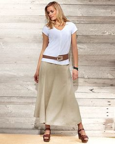 try my black skirt with the belt and white shirt